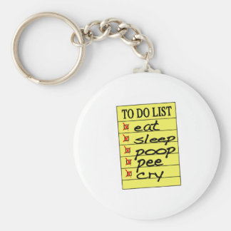 Baby to do list key chain