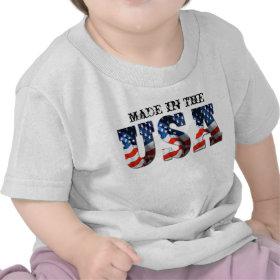 BABY + TODDLER 3D USA FLAG Patriotic Retro Shirts