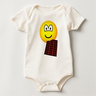 Chocolate eating emoticon   baby_toddler_apparel_tshirt