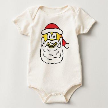 Santa emoticon   baby_toddler_apparel_tshirt