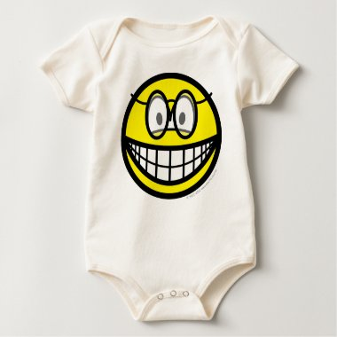 Smile with glasses   baby_toddler_apparel_tshirt