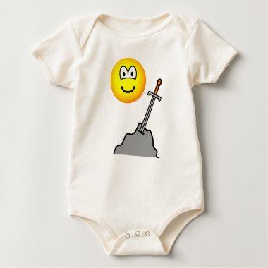 King Arthur emoticon   baby_toddler_apparel_tshirt