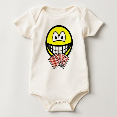 Card playing smile   baby_toddler_apparel_tshirt