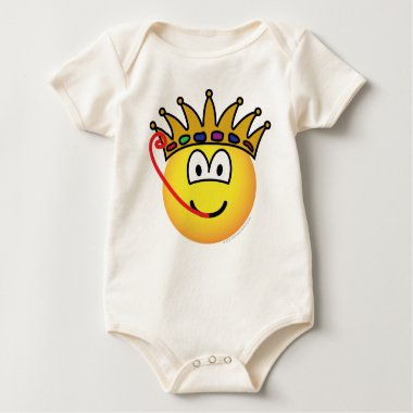 Frog king emoticon   baby_toddler_apparel_tshirt