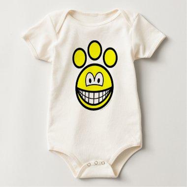 Paw print smile   baby_toddler_apparel_tshirt