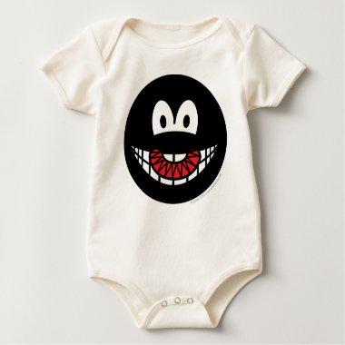 Evil smile Devilish  baby_toddler_apparel_tshirt