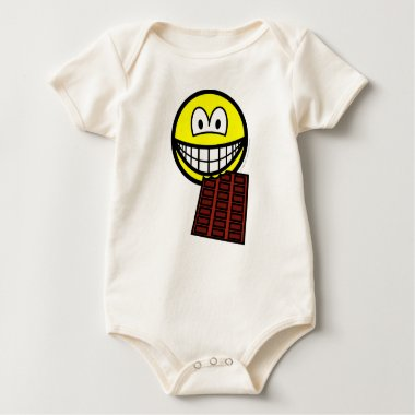 Chocolate eating smile   baby_toddler_apparel_tshirt