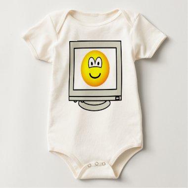 Computer screen emoticon   baby_toddler_apparel_tshirt