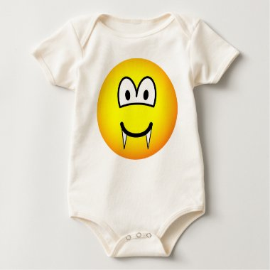 Vampire emoticon (before lunch)  baby_toddler_apparel_tshirt