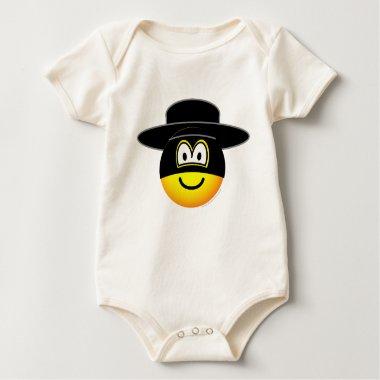 Zorro emoticon   baby_toddler_apparel_tshirt
