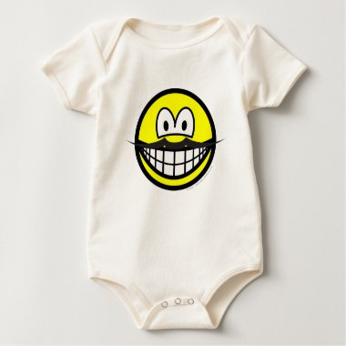 Mustache smile   baby_toddler_apparel_tshirt