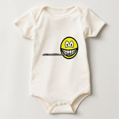 Flute smile   baby_toddler_apparel_tshirt