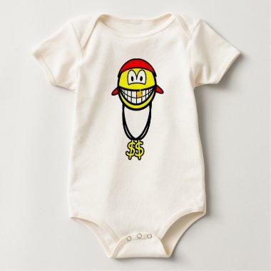 Rapper smile   baby_toddler_apparel_tshirt