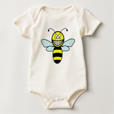 Bumble bee smile   baby_toddler_apparel_tshirt