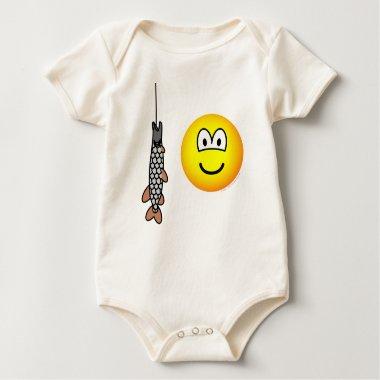 Fish caught emoticon   baby_toddler_apparel_tshirt