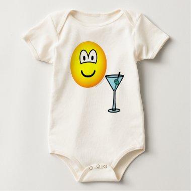 Martini drinking emoticon   baby_toddler_apparel_tshirt