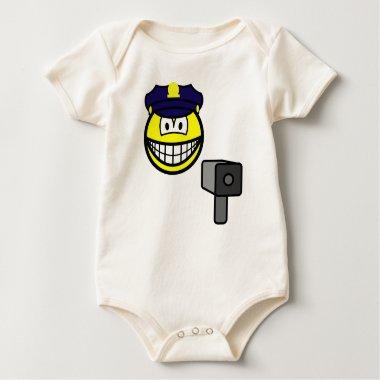 Lazer gun cop smile   baby_toddler_apparel_tshirt