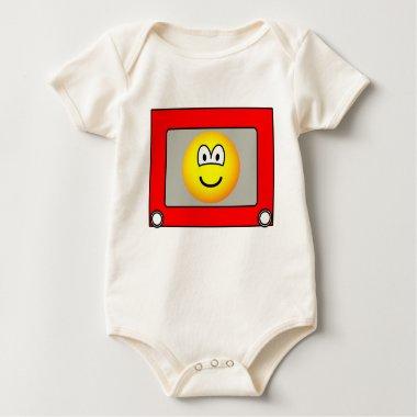 Etch a sketch emoticon   baby_toddler_apparel_tshirt