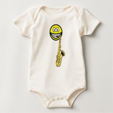 Saxophone smile   baby_toddler_apparel_tshirt