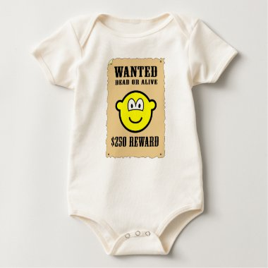 Wanted poster buddy icon   baby_toddler_apparel_tshirt