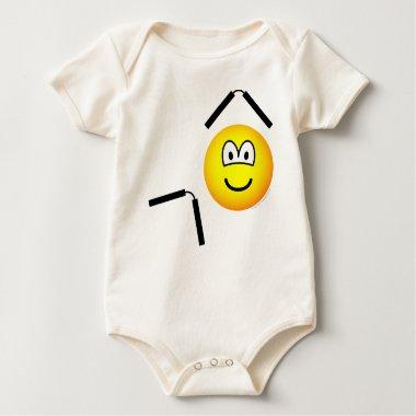 Nunchaku emoticon martial arts  baby_toddler_apparel_tshirt