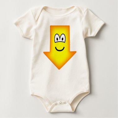 Down emoticon arrow  baby_toddler_apparel_tshirt
