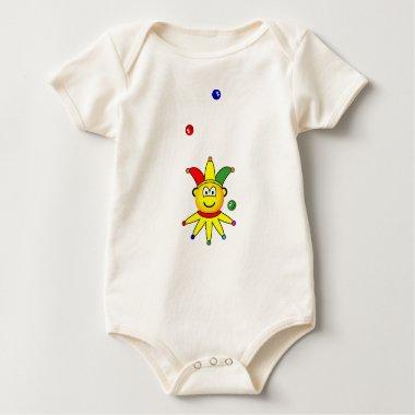 Juggling emoticon jester  baby_toddler_apparel_tshirt