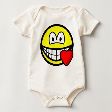 Love heart smile   baby_toddler_apparel_tshirt