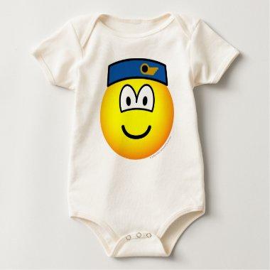 Stewardess emoticon   baby_toddler_apparel_tshirt