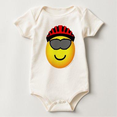 Biker emoticon glasses  baby_toddler_apparel_tshirt