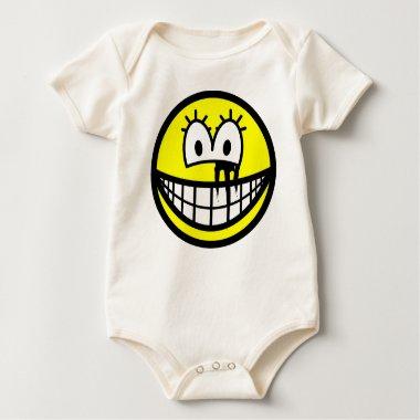 Running makeup smile   baby_toddler_apparel_tshirt