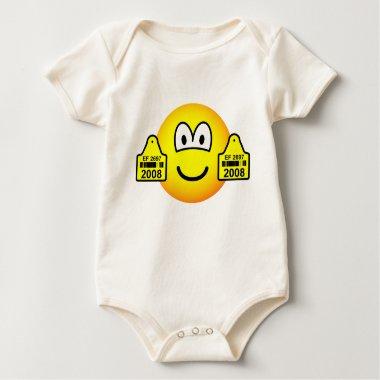 Ear tags emoticon   baby_toddler_apparel_tshirt