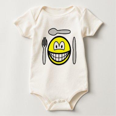 Cutlery smile   baby_toddler_apparel_tshirt