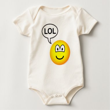 LOL emoticon  laugh(ing) out loud baby_toddler_apparel_tshirt