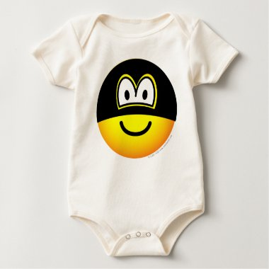 Masked emoticon   baby_toddler_apparel_tshirt