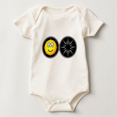 Iron maiden emoticon   baby_toddler_apparel_tshirt
