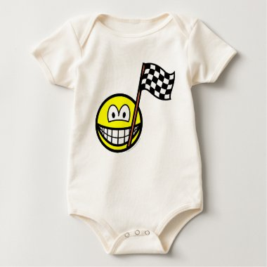 Checkered flag smile   baby_toddler_apparel_tshirt