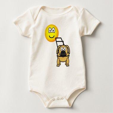 Guide dog emoticon   baby_toddler_apparel_tshirt