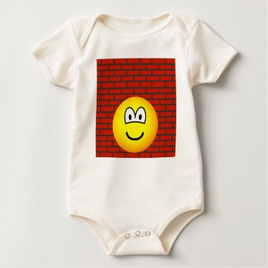 Against the wall emoticon   baby_toddler_apparel_tshirt