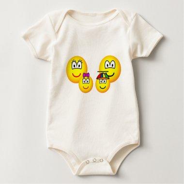 Family emoticon   baby_toddler_apparel_tshirt