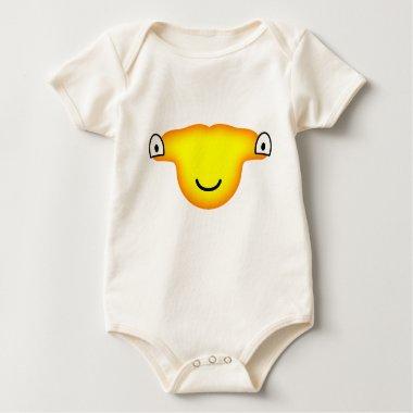 Hammerhead shark emoticon   baby_toddler_apparel_tshirt