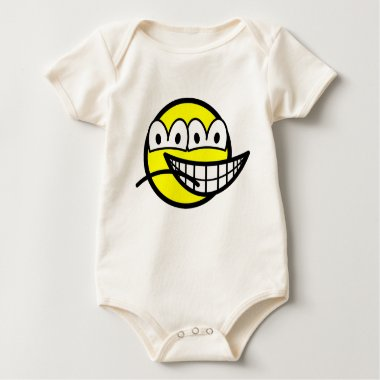 Two faced smile   baby_toddler_apparel_tshirt