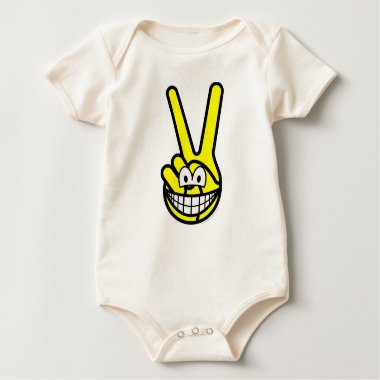 Peace sign smile   baby_toddler_apparel_tshirt