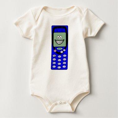 Mobile phone smile   baby_toddler_apparel_tshirt