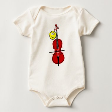 Contra bass playing buddy icon   baby_toddler_apparel_tshirt