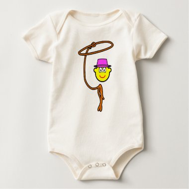 Cowgirl buddy icon lasso  baby_toddler_apparel_tshirt