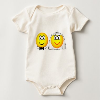 Royal wedding emoticon William and Kate  baby_toddler_apparel_tshirt