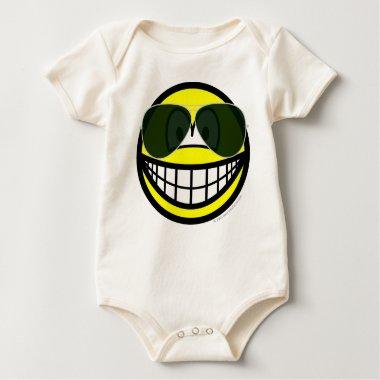 Aviators smile Sunglasses   baby_toddler_apparel_tshirt