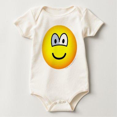 Glass eye emoticon   baby_toddler_apparel_tshirt