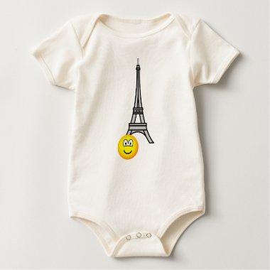 Eiffel tower emoticon   baby_toddler_apparel_tshirt
